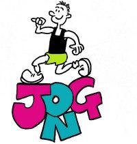 jog on running male logo